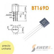 BT169 Tiristor SCR TO-92 400V 0.8A