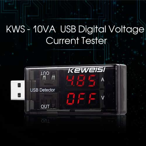USB Voltimetro Amperimetro KWS-10VA