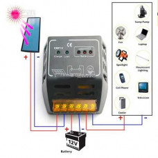 CMP12 Controlador de Carga Solar 12V 10A