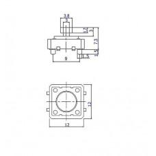 Tapa circular pulsador B3F