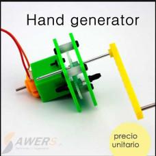 Kit didactivo Generador de electricidad a manivela