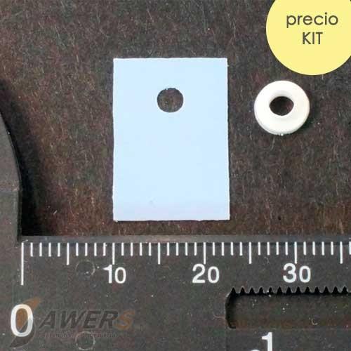Pad aislante termico con arandela ailante