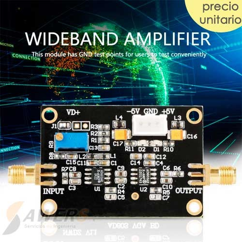 AD603 Amplificador AGC Banda Ancha 90Mhz