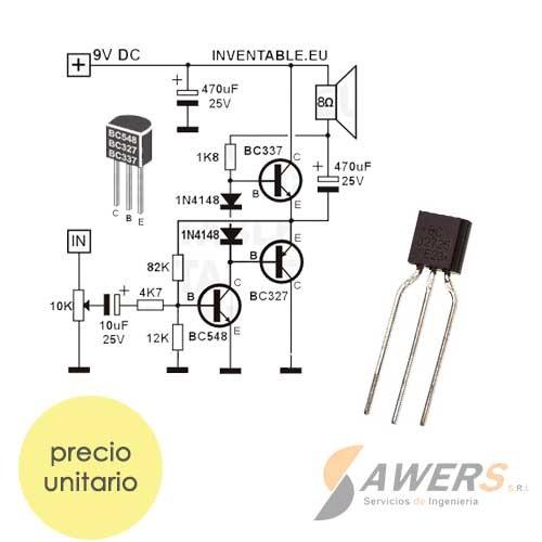 BC327 Transistor PNP -45V 100Mhz 100hFE