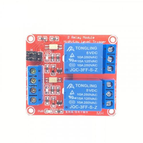 Modulo Relay 2CH 5VDC Optoacoplado