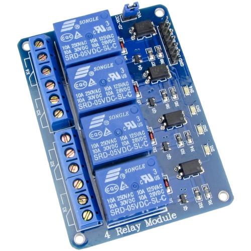 Modulo Relay 4CH 5VDC Optoacoplado