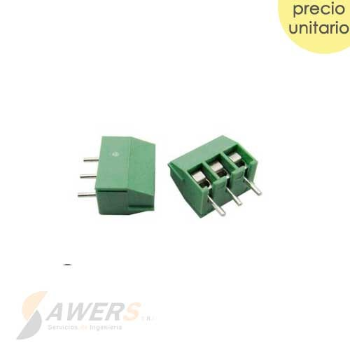 Bornera KF350 de 3pin 3.5mm 300V-10A