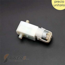 Motorreductor 100RPM 5V doble eje (blanco)