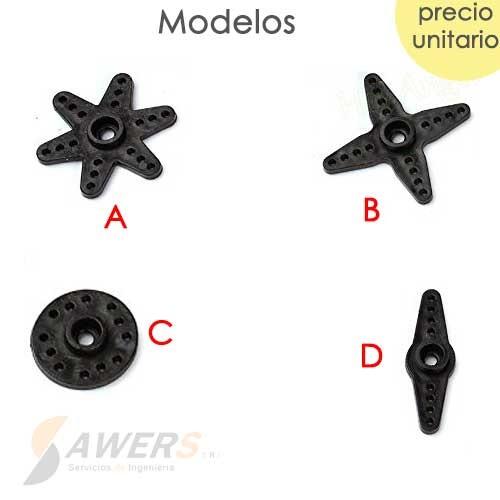 Acople de Servo MG996 SG5010 (Plastico)