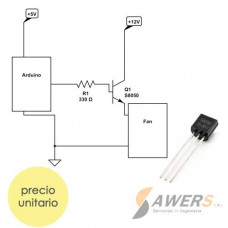 S8050 Transistor NPN 40V 100Mhz 300hFE