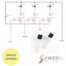 A1015 Transistor PNP -50V 80Mhz 400hFE