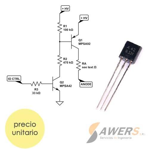 MPSA42 Transistor NPN 300V 40hFE
