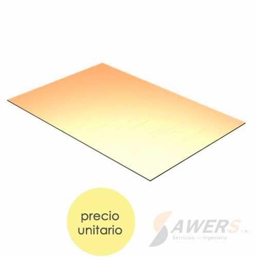 PCB Virgen cara simple 20x15cm (Fibra de vidrio)