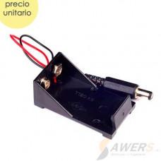Portabateria 9V con conector Jack