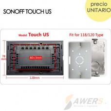 Sonoff Touch Glass (Interruptor WiFi de Luz Tactil) US