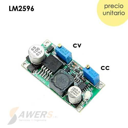 LM2596 Regulador Step-Down Voltaje y Corriente 2-37V 3A