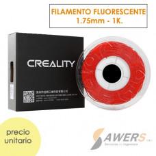 Filamento Creality PLA Fluorescente Rojo 1.75mm -1Kg