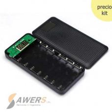 Case PowerBank USB Dual 18650 5V 2A (8 Pilas)