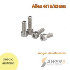 Perno y tuerca M2.5 Inox  4-6-16-25mm