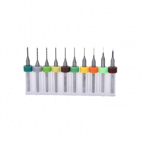 Kit de Fresas CNC para Perforacion 0.3 a 1.2mm