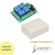 Control Remoto RF 4CH Relay 12V (433Mhz)