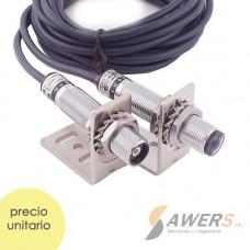 Sensor de barrera laser 20M 6-36VDC Salida NPN
