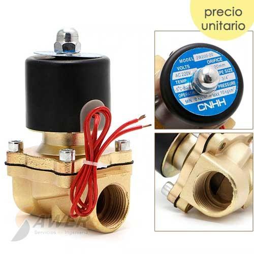 Valvula Solenoide Electrica 1/2inch 220VAC