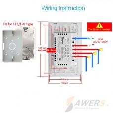 Sonoff Touch T3US1C (Interruptor de Luz Tactil WiFi-RF 2020)