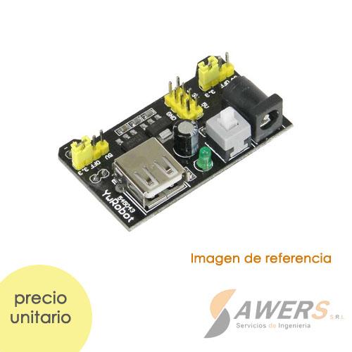 Fuente para protoboard MB102 5V-3.3V