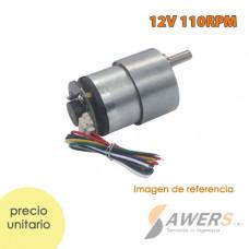Motorreductor JGA25-310 12V 100RPM con encoder