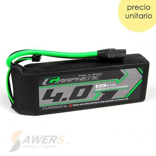Bateria Lipo 11.1V 4000mAh 3S 75C Turnigy Graphene Panther XT90