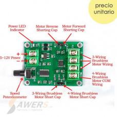 Controlador BLCD de Velocidad 12V 1.8A