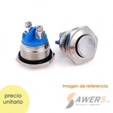 Interruptor Momentaneo INOX 16mm 250V 3A