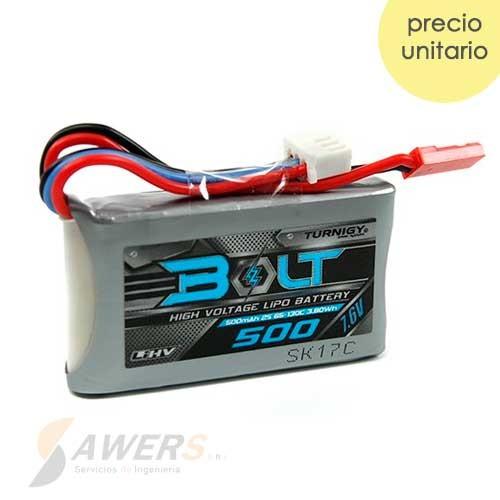 Bateria LIHV 500mAh 2S 7.6V 130C Turnigy Bolt