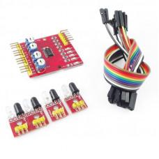 Sensor IR 4CH Seguidor de Linea de 4 Canales