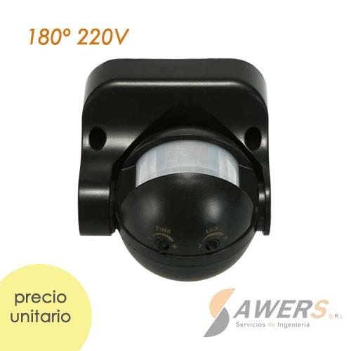 Sensor de Movimiento PIR IP44 180grados 220VAC