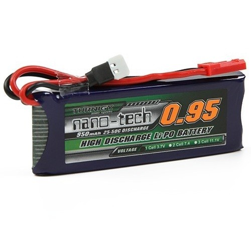 Bateria Lipo 3.7V 950 mAh 1S 25-50C Turnigy Nano-Tech
