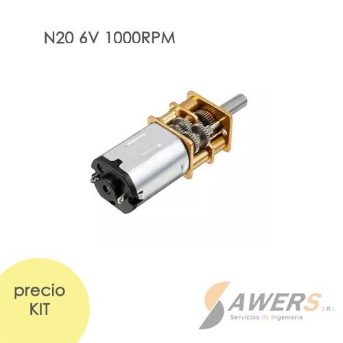 Micro Motorreductor N20 6V 800-1000-3000RPM