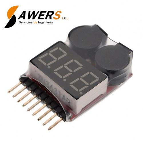 Probador de voltaje para baterias LIPO 1S a 8S