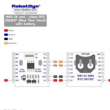 RTC DS1307 Reloj de tiempo para Wemos D1 Mini