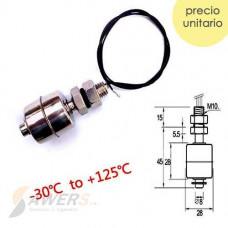 Sensor Nivel de Agua Vertical acero inoxidable 45mm