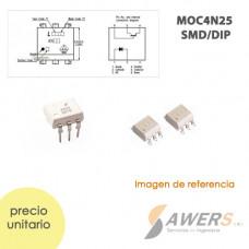 4N25 MOC Optoacoplador SMD/DIP