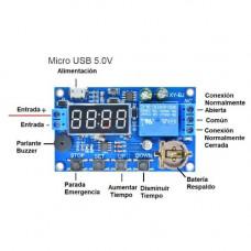 Temporizador 0-999min Programable Relay 24VDC