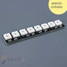 Led RGB  WS2812 8Bit Tira PCB Regla