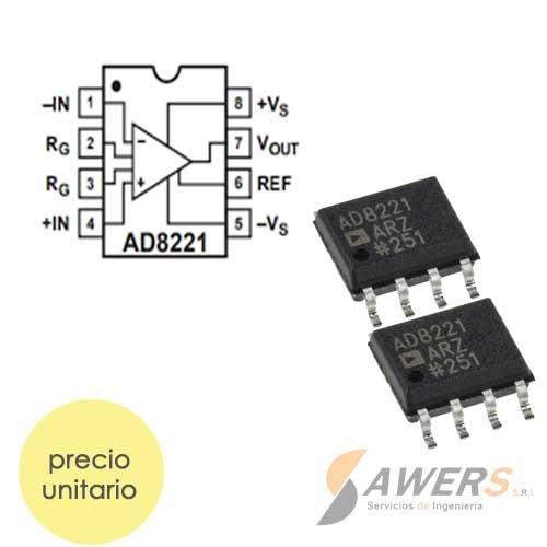 AD8221 Amplificador de Instrumentacion (smd)