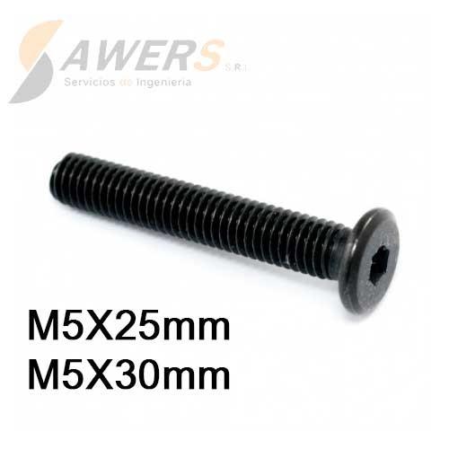 Tornillo de Perfil Bajo M5 L=20-25-30-40mm
