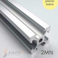 Perfil de aluminio estructural V-SLOT 2020 2Mts
