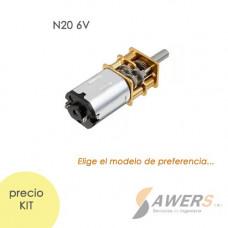 Micro Motorreductor N20 6V 300-500RPM