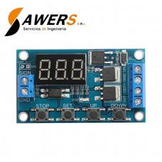 Temporizador 0-999min Programable  Mosfet 12VDC
