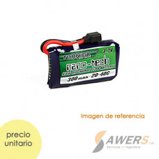 Bateria Lipo 3.7v 300mAh 1S 45-90C Turnigy Nano-Tech